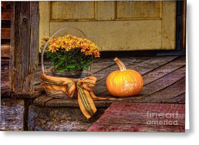 Autumn Greeting Card by Lois Bryan