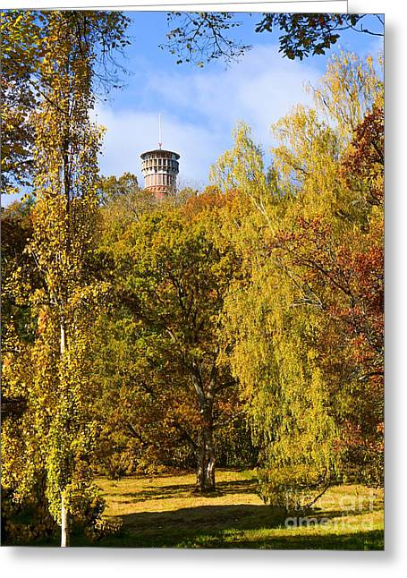 Lookout Tower Greeting Cards - Autumn Lookout Greeting Card by Lutz Baar