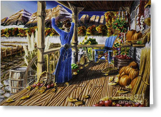 Autumn Morning Greeting Card by Robert Thornton