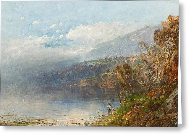 Fog Mist Greeting Cards - Autumn on the Androscoggin Greeting Card by William Sonntag