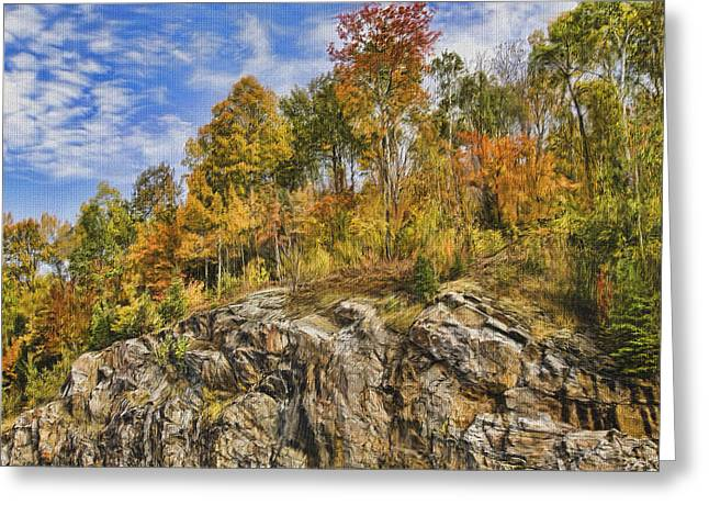Autumn On The Rocks Greeting Card by Jo-Anne Gazo-McKim