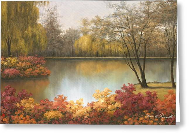 Autumn Scene Greeting Cards - Autumn Pallet Greeting Card by Diane Romanello