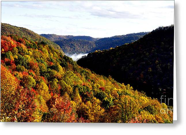 Nicholas County Greeting Cards - Autumn Panoramic Greeting Card by Thomas R Fletcher