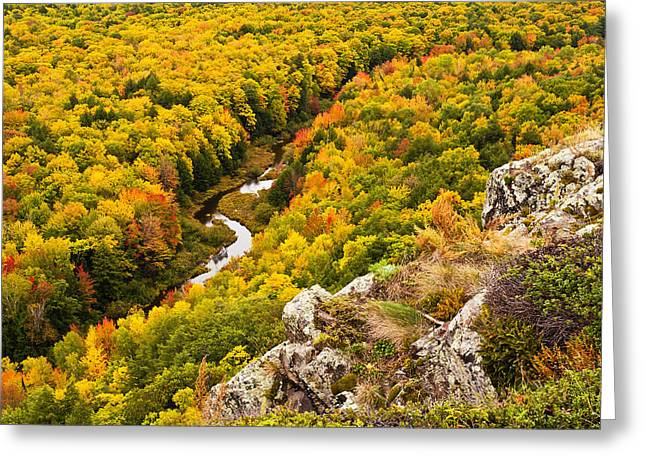 Silver City Greeting Cards - Autumn Precipice Greeting Card by James Marvin Phelps