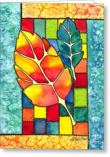 Crafty Quilts Greeting Cards - Autumn Quilt Greeting Card by Kristen Fox