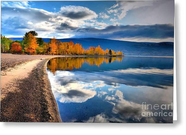 Autumn Reflections In October Greeting Card by Tara Turner