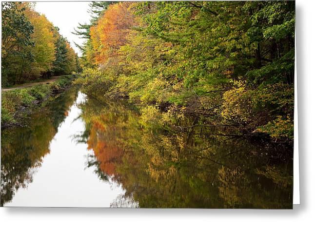 Autumn Reflections Greeting Card by Jenna Szerlag