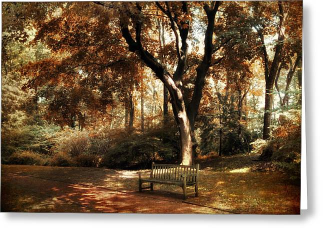 Dappled Light Greeting Cards - Autumn Repose Greeting Card by Jessica Jenney