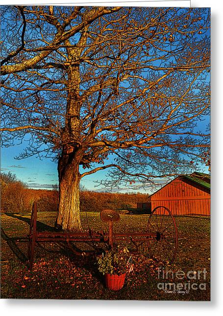 Hay Rake Greeting Cards - Autumn Rest Greeting Card by Diane E Berry