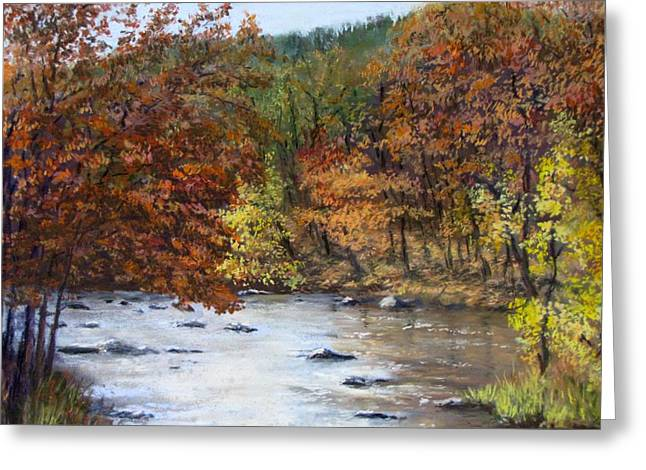 New England. Pastels Greeting Cards - Autumn River Greeting Card by Jack Skinner