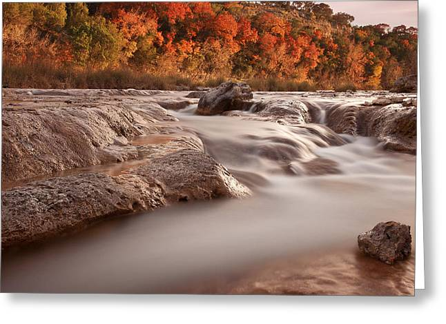Autumn River Rapids 3 Greeting Card by Paul Huchton