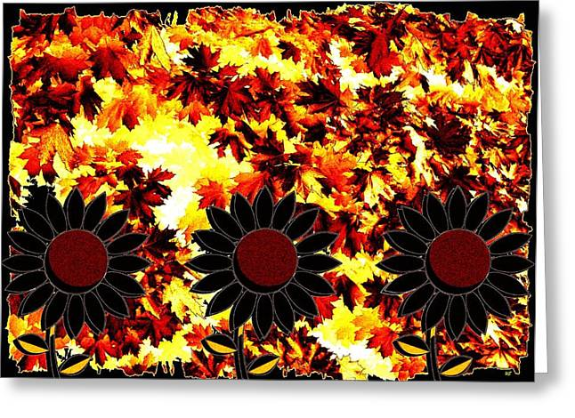 Trio Mixed Media Greeting Cards - Autumn Serenade Greeting Card by Will Borden