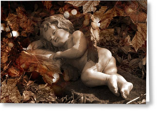 Childish Dreams Greeting Cards - Autumn Sleep Greeting Card by Marc Huebner