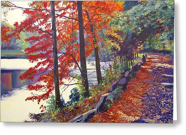 Autumn Sonata Greeting Card by David Lloyd Glover