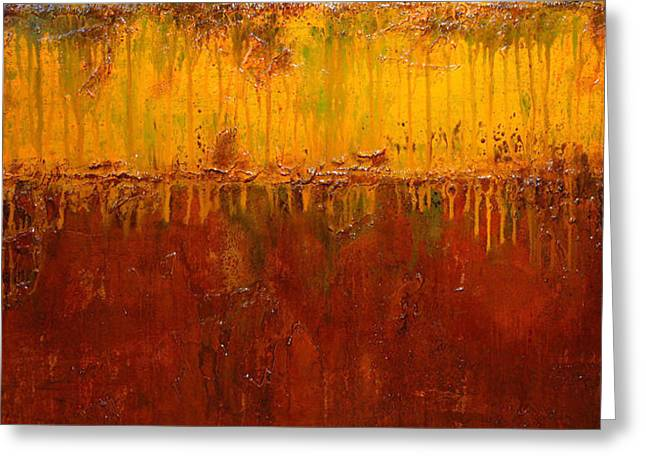 Surreal Landscape Mixed Media Greeting Cards - Autumn Soul Greeting Card by Henry Parsinia