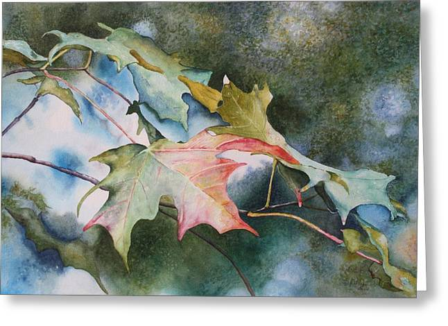 Patsy Sharpe Paintings Greeting Cards - Autumn Sparkle Greeting Card by Patsy Sharpe