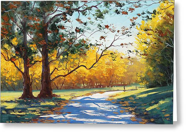 Fall Trees Greeting Cards - Autumn Splendor Greeting Card by Graham Gercken