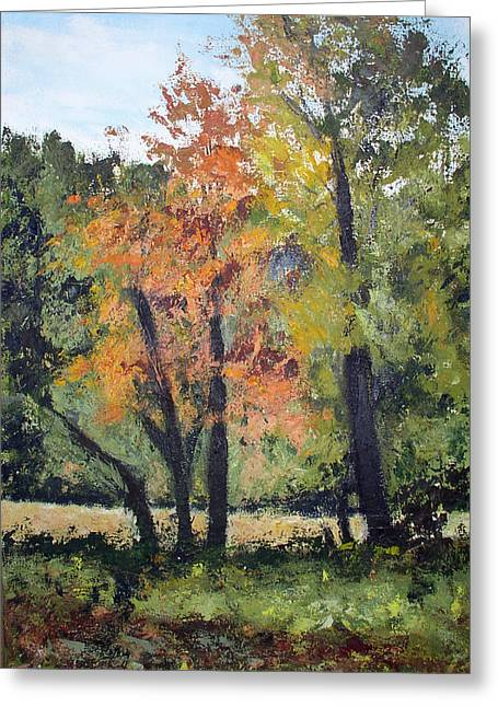 Keuka Paintings Greeting Cards - Autumn Still Life Greeting Card by William Elwood Deats
