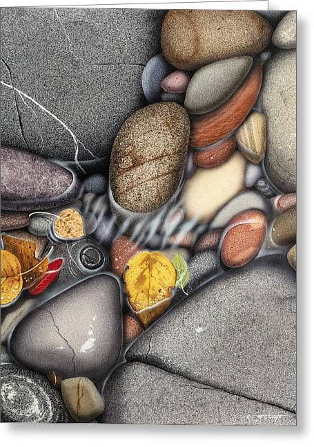 Colored Stones Greeting Cards - Autumn Stones Greeting Card by JQ Licensing