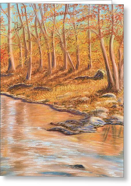 Autumn Stream Greeting Card by Jan Amiss