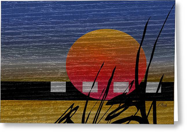 Asian Influence Greeting Cards - Autumn Sun  Greeting Card by Gordon Beck