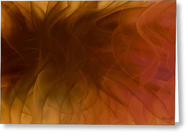 Gina Lee Manley Greeting Cards - Autumn Swirl Abstract Greeting Card by Gina Lee Manley