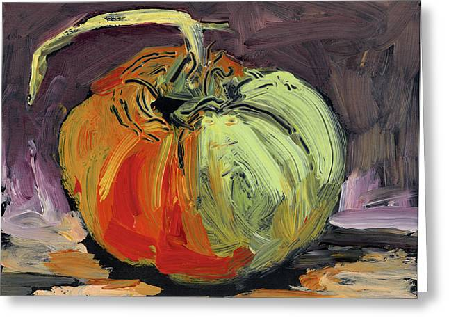 Tomato Drawings Greeting Cards - Autumn Tomato Greeting Card by Scott Bennett