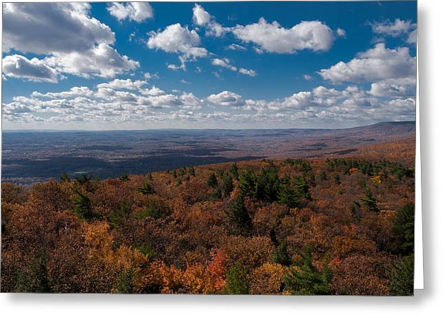 Shawanagunk Mountains Greeting Cards - Autumn Vista Greeting Card by Jim DeLillo