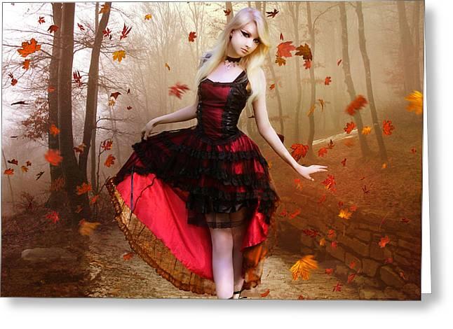 Autumn Waltz Greeting Card by Karen K