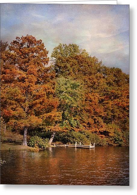 Autumn's Edge Greeting Card by Jai Johnson