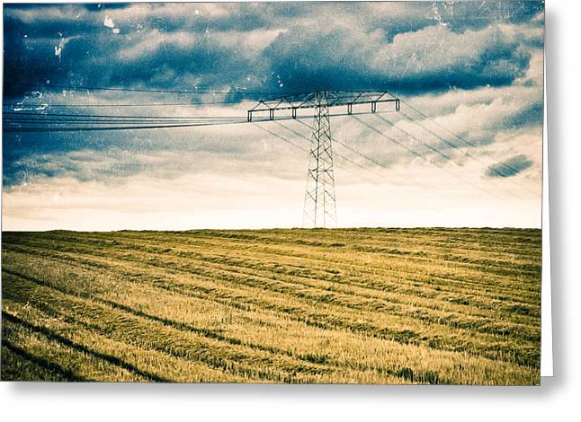High Voltage Greeting Cards - Autumns Energy Greeting Card by Mandy Tabatt