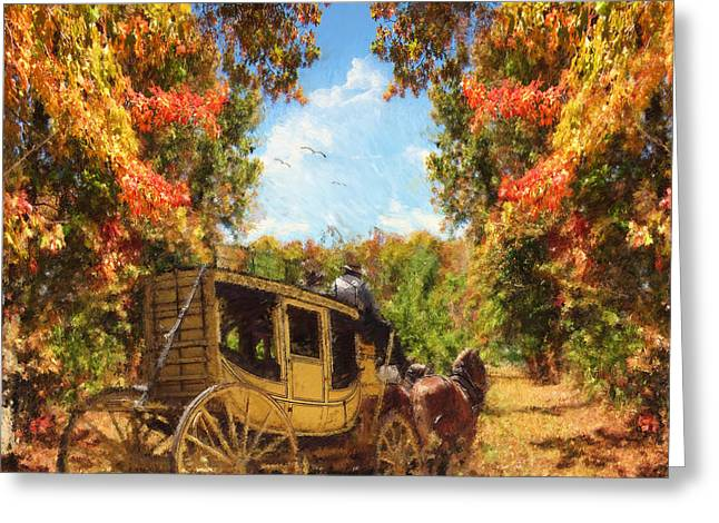 Autumn's Essence Greeting Card by Lourry Legarde