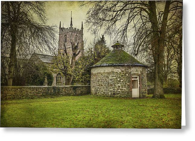 St. Clare Greeting Cards - Avebury Dovecote 16th century Greeting Card by Clare Bambers