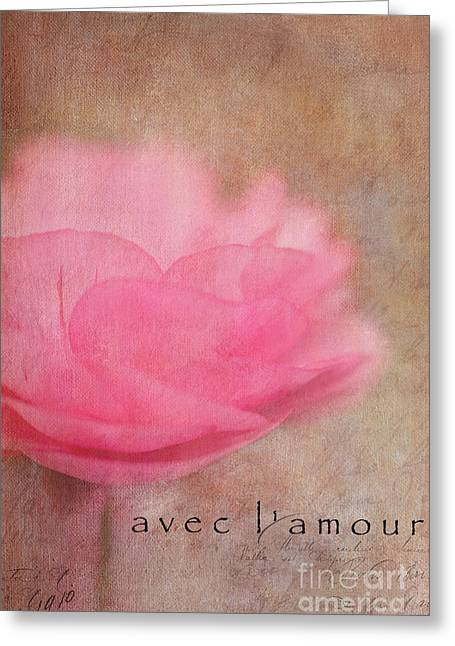 With Love Digital Art Greeting Cards - Avec Lamour Greeting Card by Reflective Moments  Photography and Digital Art Images