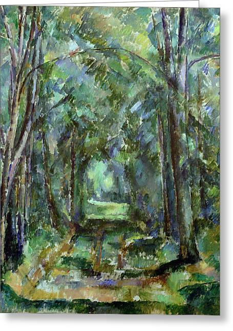 Avenues Greeting Cards - Avenue at Chantilly Greeting Card by Paul Cezanne
