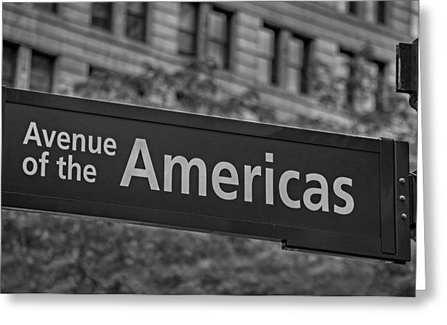 Avenue of the Americas Greeting Card by Susan Candelario