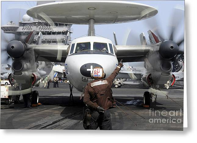 Ap Greeting Cards - Aviation Electronics Technician Directs Greeting Card by Stocktrek Images