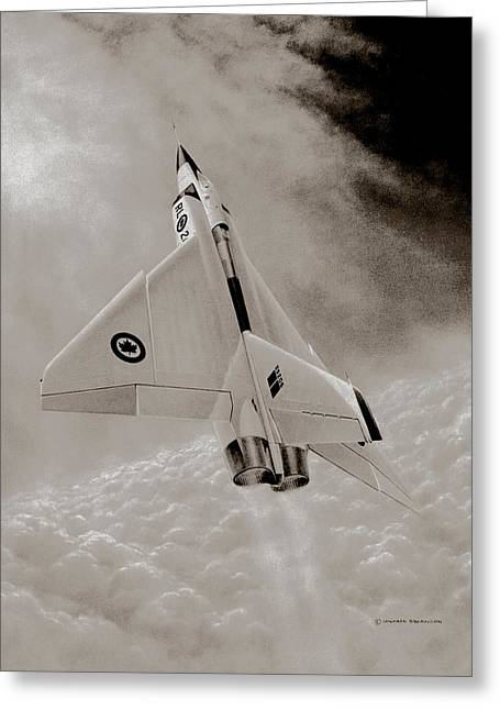 Michael Swanson Greeting Cards - Avro Arow Ghost Flight Greeting Card by Michael Swanson