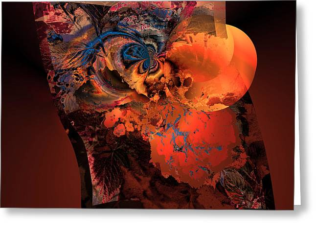 Generative Abstract Greeting Cards - AW 1 Cosmic ovulation Greeting Card by Claude McCoy