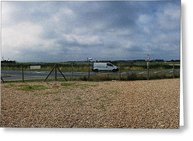 Fighter-bomber Photographs Greeting Cards - AWACS taking off for Iraq RAF Waddington Greeting Card by Jan Faul