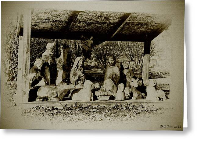 Away in the Manger Greeting Card by Bill Cannon