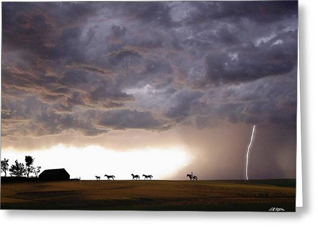 Storm Digital Greeting Cards - Awesome Storm Greeting Card by Bill Stephens