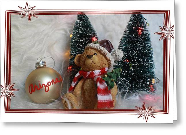 Chelsy Greeting Cards - AZ Christmas Bear Greeting Card by ChelsyLotze International Studio