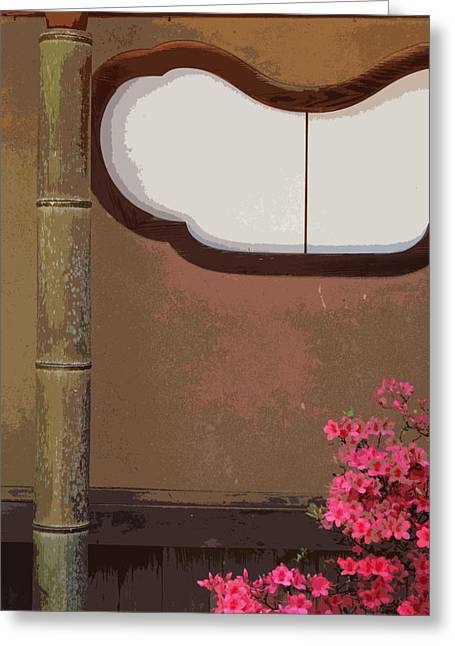 Best Sellers -  - Bamboo House Greeting Cards - Azalea at Shisendo Greeting Card by Cinnabar and Saffron