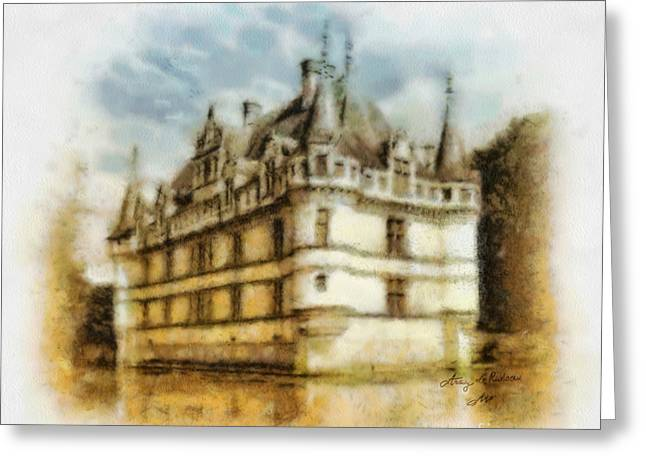 Chateau Greeting Cards - Azay le Rideau Greeting Card by Mo T