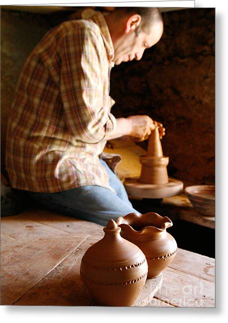 Ability Greeting Cards - Azorean potter Greeting Card by Gaspar Avila
