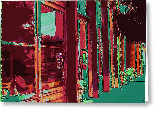 Main Street Greeting Cards - Azrec NM III Greeting Card by Elaine Frink