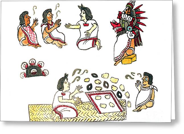 Aztec Medicine, Codex Magliabechiano Greeting Card by Science Source