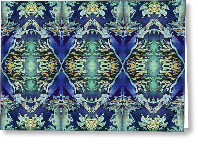 Azuraz Candle Tiled Greeting Card by Sue Duda