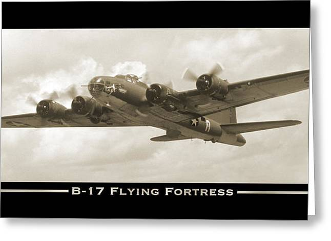 17 Greeting Cards - B-17 Flying Fortress Show Print Greeting Card by Mike McGlothlen